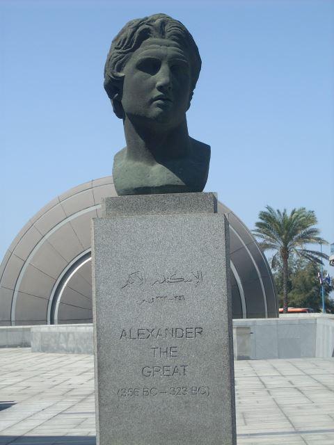 Памятник Александру Македонскому в Александрии